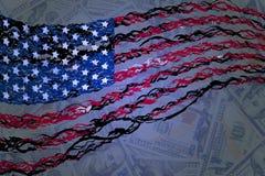 flagga Lycklig självständighetsdagenillustration royaltyfri illustrationer