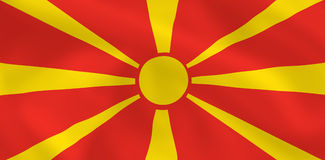 flagga macedonia Royaltyfri Bild