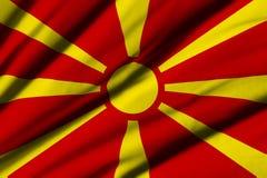 flagga macedonia Royaltyfri Fotografi