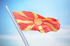 flagga macedonia Arkivbild