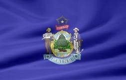 flagga maine Royaltyfri Fotografi