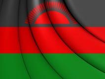 flagga malawi royaltyfri illustrationer