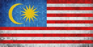 flagga malaysia royaltyfri illustrationer