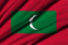 flagga maldives Royaltyfri Fotografi