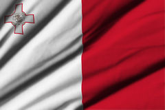 flagga malta Royaltyfri Fotografi