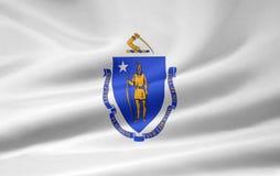 flagga massachusetts Fotografering för Bildbyråer