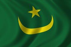flagga mauritania vektor illustrationer