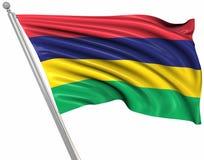 flagga mauritius royaltyfri illustrationer