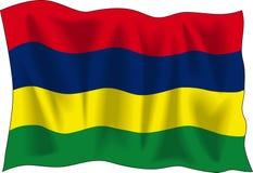 flagga mauritius vektor illustrationer