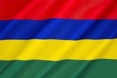 flagga mauritius Arkivbild