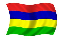 flagga mauritius royaltyfri illustrationer