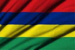 flagga mauritius Royaltyfri Foto