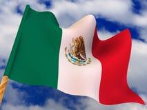 flagga mexico vektor illustrationer