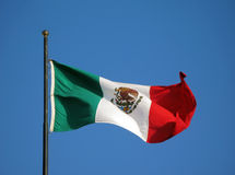 flagga mexico Royaltyfri Bild