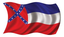 flagga mississippi Royaltyfria Foton