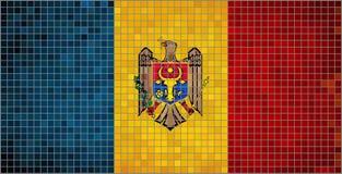 flagga moldova Royaltyfri Fotografi