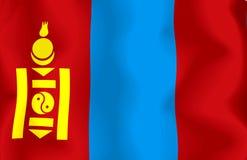 flagga mongolia Fotografering för Bildbyråer