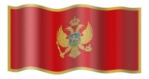 flagga montenegro royaltyfri illustrationer