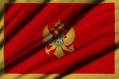 flagga montenegro Fotografering för Bildbyråer