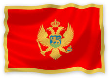 flagga montenegro Royaltyfri Bild