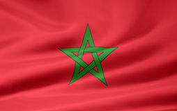flagga morocco stock illustrationer