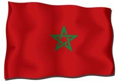 flagga morocco Arkivbilder