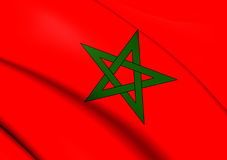flagga morocco royaltyfri illustrationer