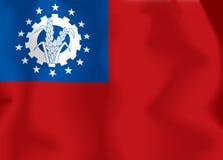 flagga myanmar Royaltyfri Fotografi