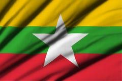 flagga myanmar Royaltyfria Foton