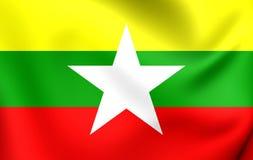 flagga myanmar vektor illustrationer