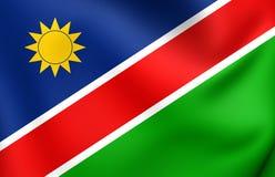 flagga namibia royaltyfri illustrationer