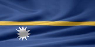 flagga nauru royaltyfri illustrationer
