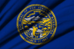 flagga nebraska Royaltyfri Foto