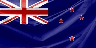 flagga New Zealand Fotografering för Bildbyråer