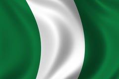 flagga nigeria royaltyfri illustrationer
