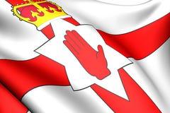 flagga nordliga ireland royaltyfri illustrationer