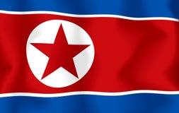 flagga norr korea Royaltyfri Fotografi
