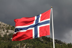 flagga norway Royaltyfri Fotografi
