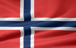 flagga norway Royaltyfria Bilder
