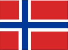 flagga norway Arkivfoto