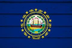 flagga nya hampshire royaltyfri fotografi