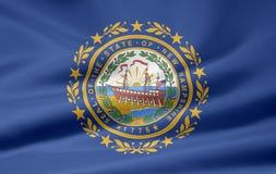 flagga nya hampshire royaltyfri illustrationer