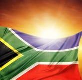 Flagga och himmel Royaltyfri Bild