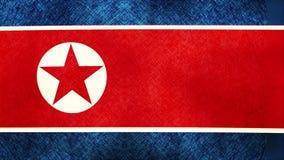 Flagga od Nordkorea som överdrar grungetextur