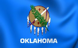 flagga oklahoma USA royaltyfri illustrationer