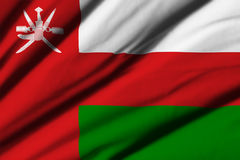 flagga oman Arkivbild