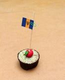 Flagga på en äpplemuffin, Barbados Royaltyfria Foton