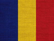 Flagga på gammal linne fotografering för bildbyråer