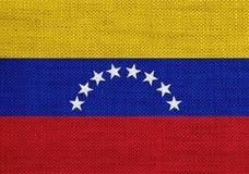 Flagga på gammal linne Arkivbild