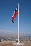 Flagga på Morro de Arica Royaltyfri Bild